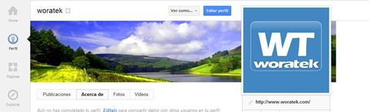 Portada de Google Plus