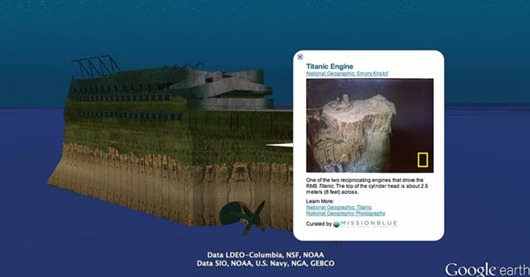 Titanic en Google Earth