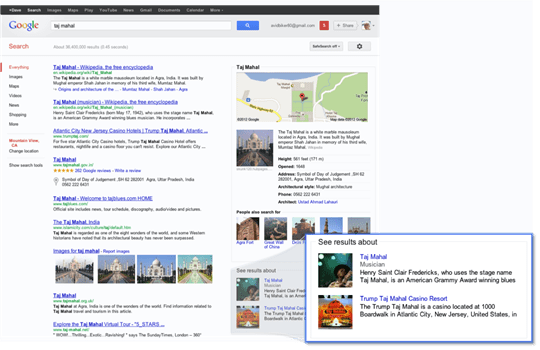 Google Knowledge Graph 1