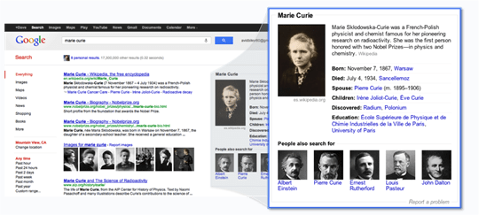 Google Knowledge Graph 2