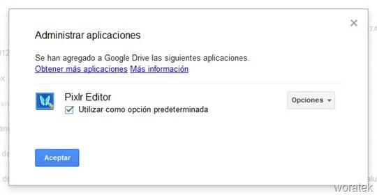 Pixlr en Google Drive
