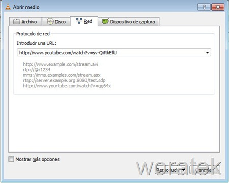 26-11-2012 vlc player y youtube