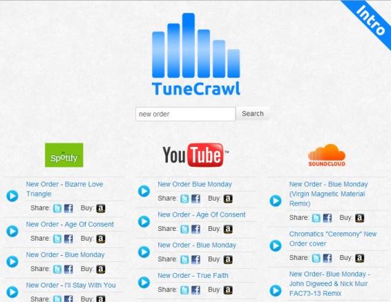Tunecrawl, escuchar música online