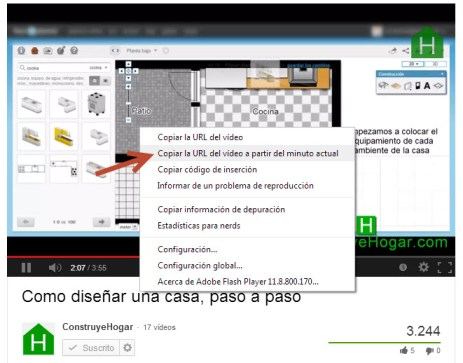 Ir un determinado minuto de video en YouTube