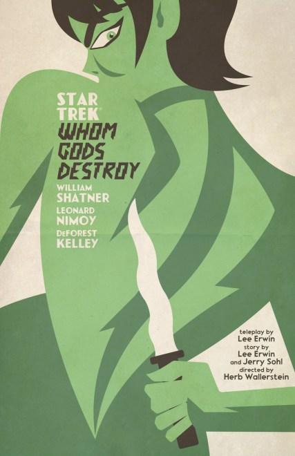 Diseño póster de Star Trek con estilo vintage