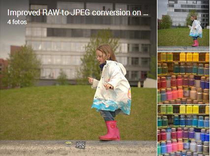 convertir de Raw a JPG en Google+