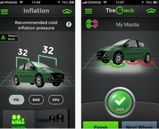 Aplicación iPhone para medir presión de las llantas del auto