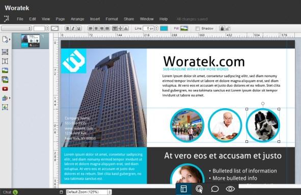 Aplicación online para hacer folletos, flyer, volantes, maquetar documentos