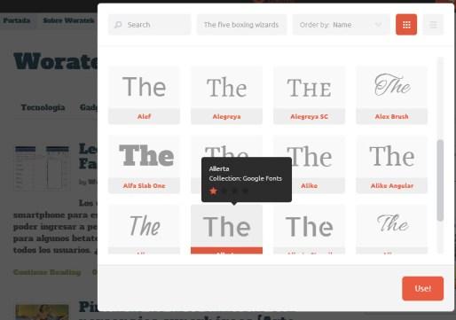 Cambiar letras para blogs y páginas web online