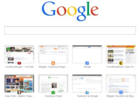 Nueva pestaña de Google Chrome