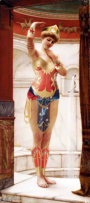 Pintura de la mujer maravilla versión