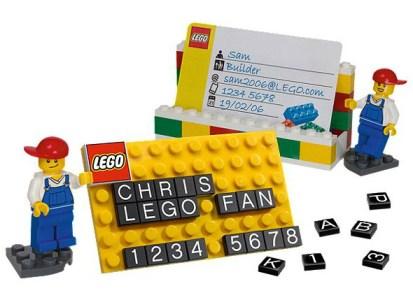 Tarjeta de visita de Lego