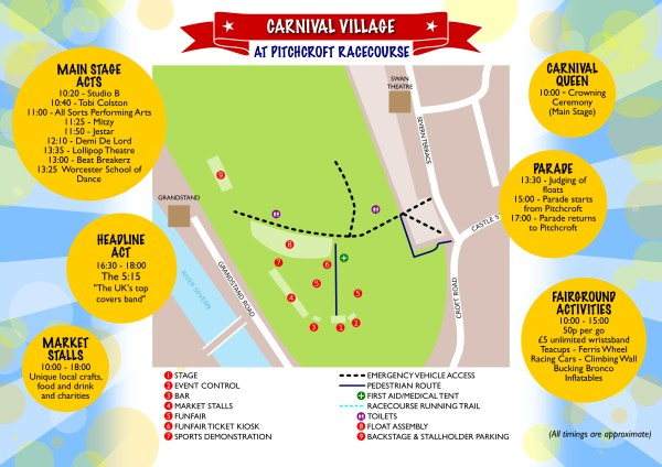 Worcester Carnival Village Site Map