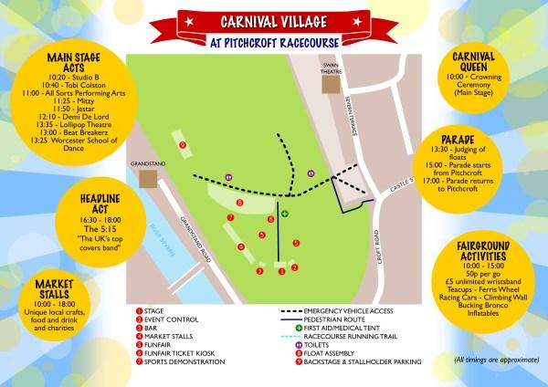 Worcester Carnival Village Site Map