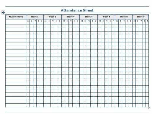 Attendance Sheet Template. Attendance Sheet Template Mer Enn 25 ...
