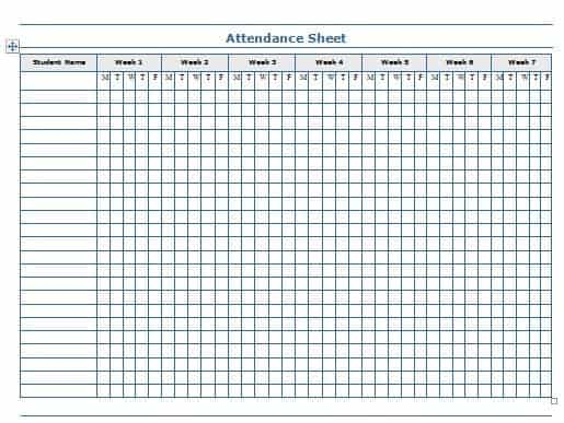 Attendance Sheet Template. Attendance Sheet For Employees Excel
