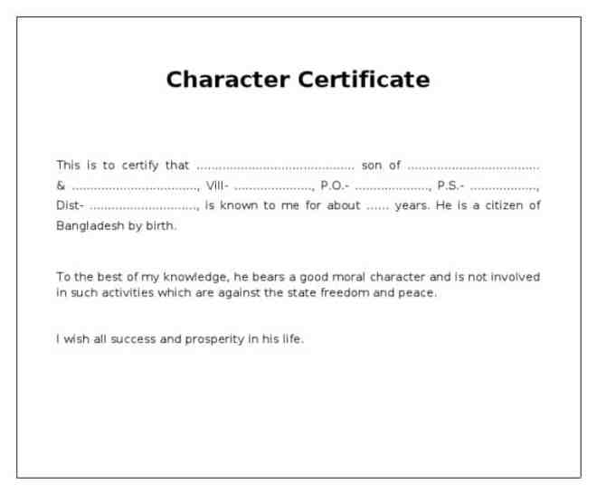 4 Character Certificates Word Excel Templates