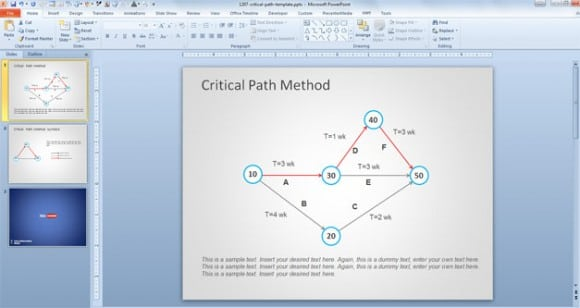 5  critical path templates
