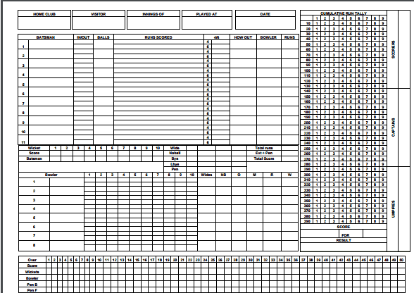 5  cricket score sheets excel