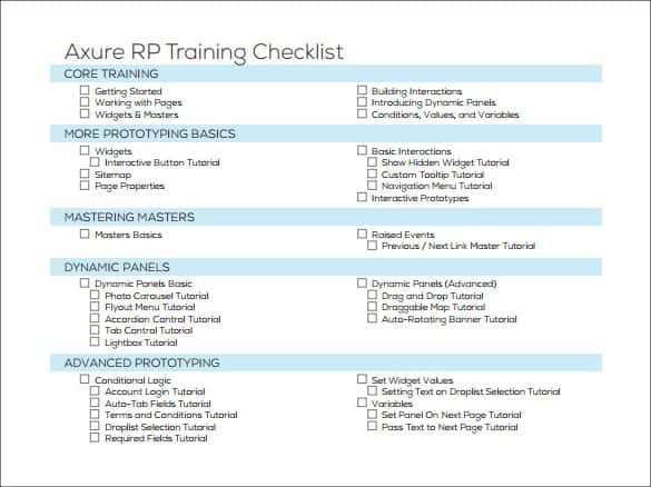 Use this small business checklist to prepare yourself before launching your business. 5 Training Checklist Templates Word Excel Templates