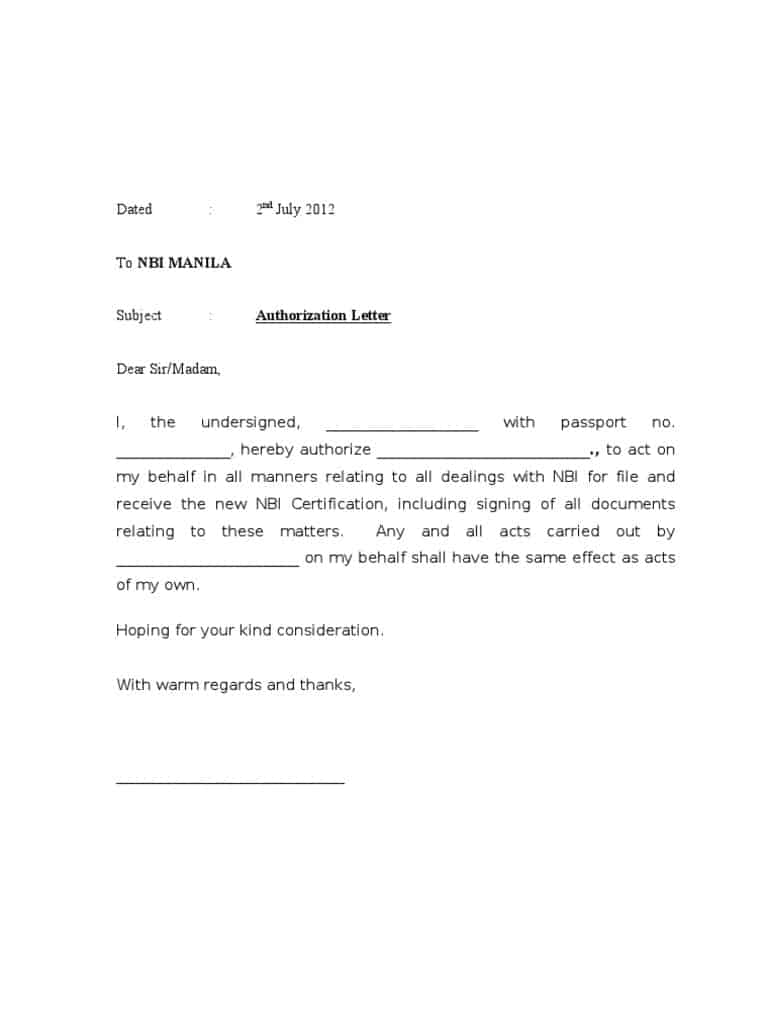 Authorization letter sample to act on behalf dolapgnetband authorization thecheapjerseys Image collections