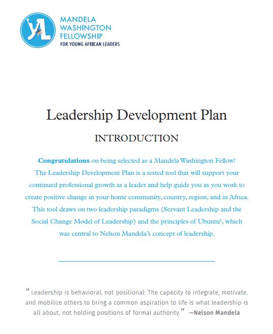 4 Personal Leadership Development Plan Templates
