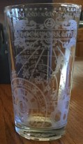 Clockwork Lives pint glass med copy