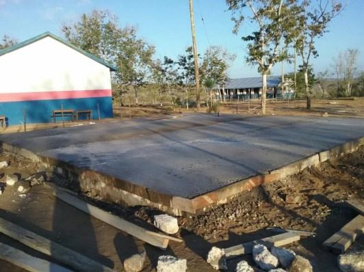 Floor base laid