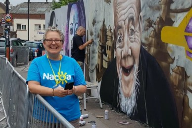 Volunteering at UPFEST in Bristol.