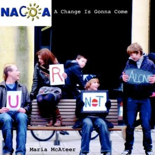 Cover of the fundraising single, A Change is Gonna Come, with son, Ryan.