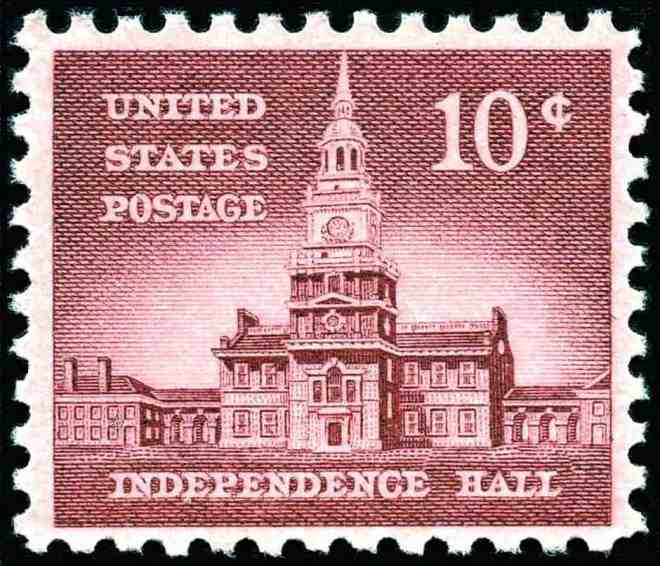 Independence_Hall_1956_Issue-10c