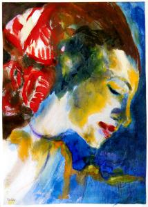 Flowers Word Image Spirit - Emile Nolde Flowers in her hair