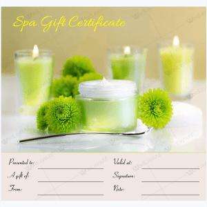 free spa gift certificate template printable tikir reitschule - Free Spa Gift Certificate Template Printable
