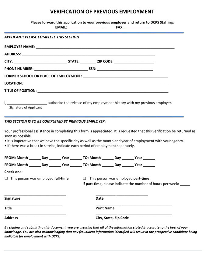 Great Prior Employment Verification Targer Golden Dragon Co Regard To Prior Employment Verification Form