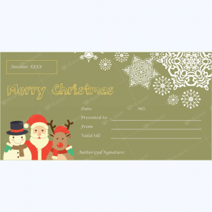 Gift Certificate Templates   500  Gift Certificate Designs Christmas Gift Certificate Template 29