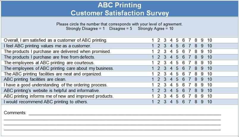 6 Sample Survey Templates - Excel PDF Formats