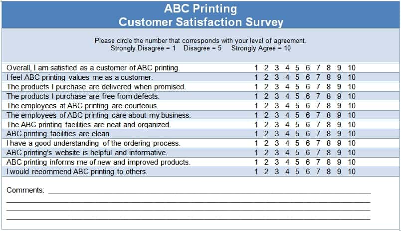 Sample Survey Templates  Excel Pdf Formats