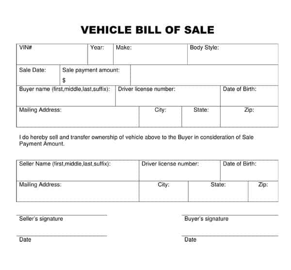 format for bill of sale selo l ink co