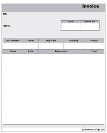 blank invoice templates
