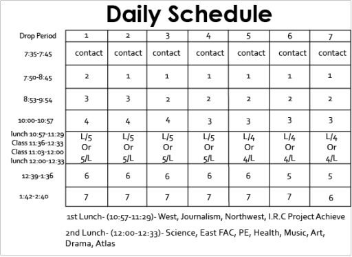 daily schedule template 44