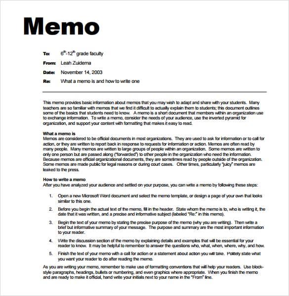 microsoft word memo template download
