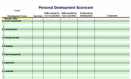 Personal Development Plan Templates  Excel Pdf Formats
