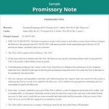Promissory Note Templates  Excel Pdf Formats