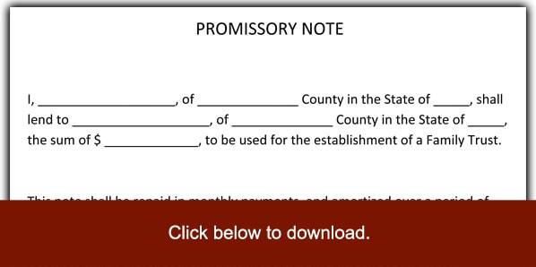 promissory note sample pdf