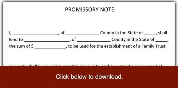 6 promissory note templates excel pdf formats. Black Bedroom Furniture Sets. Home Design Ideas