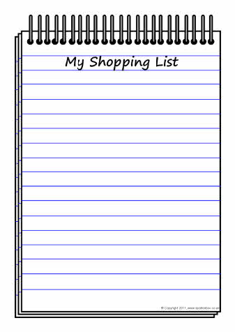Shopping List Template - Neptun