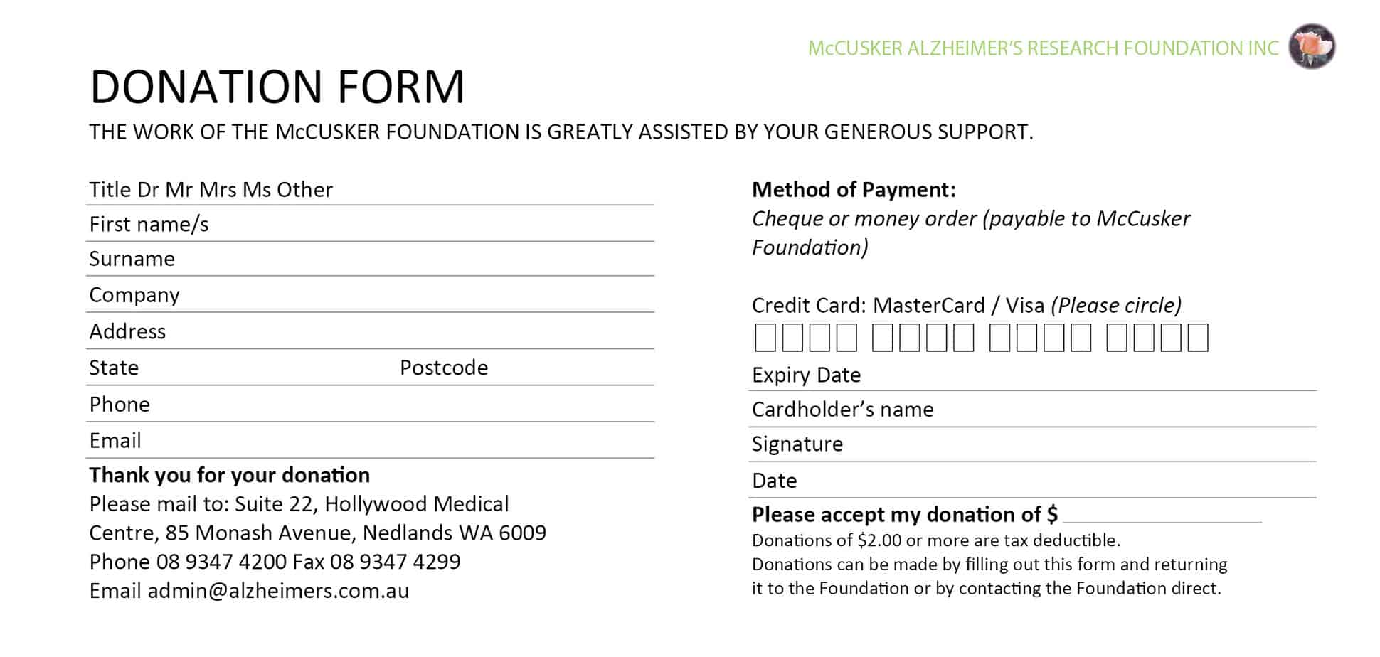 6 Donation Form Templates