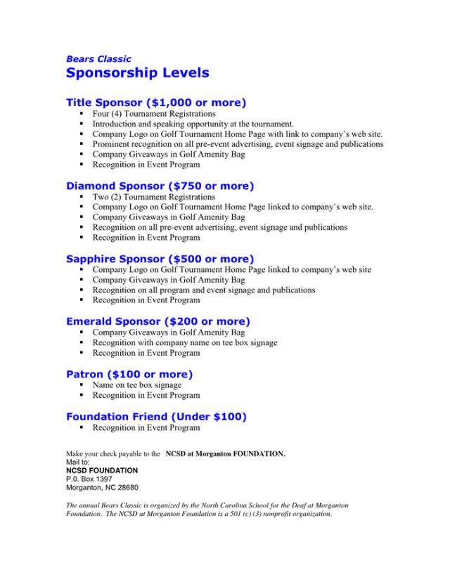 Sponsorship Proposal 665