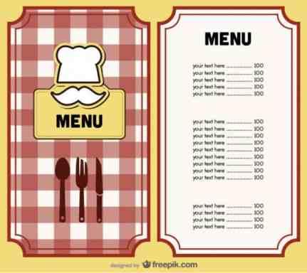 menu template 5451