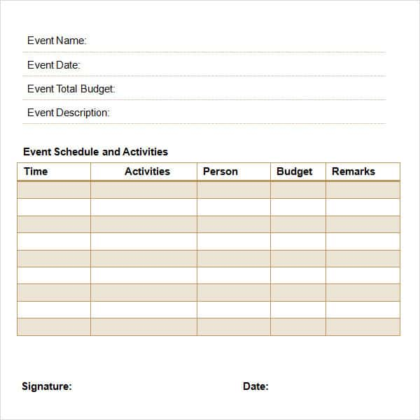 Event Planning Proposal. Proposal Template 55  Event Planning Proposal Template